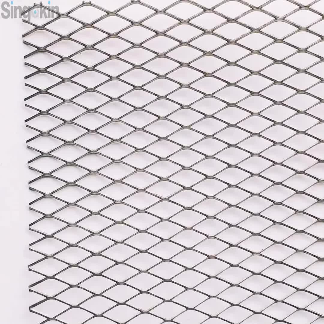 Stainless Steel Diamond Hole Heavy Expanded Plate Mesh For