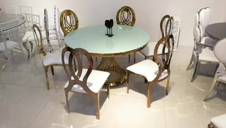 Round Stainless Steel Wedding Event Dining Table Buy