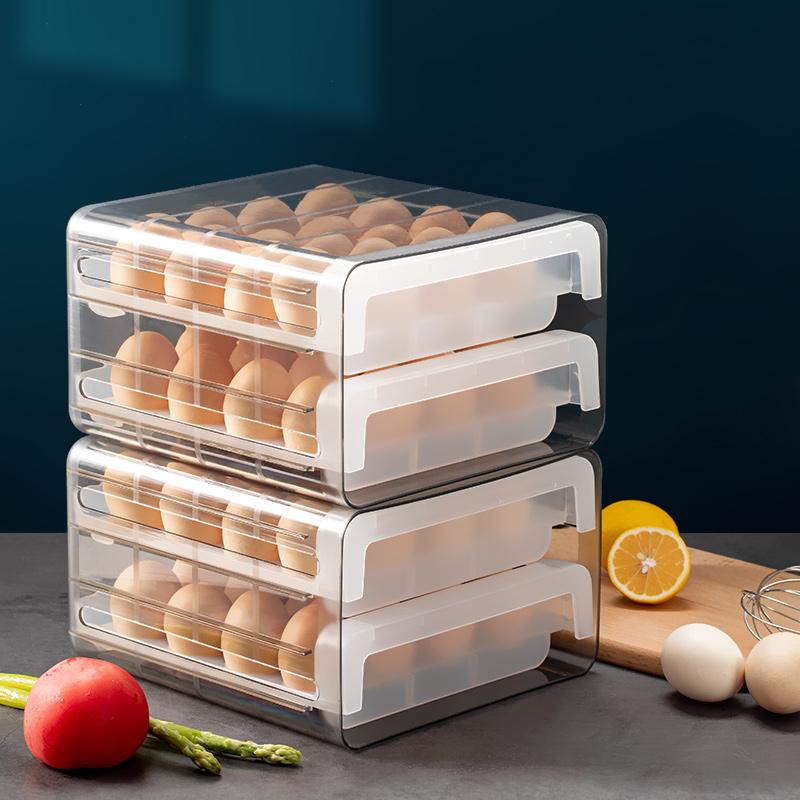 双层鸡蛋收纳盒价格_双层鸡蛋收纳盒图片- 星期三