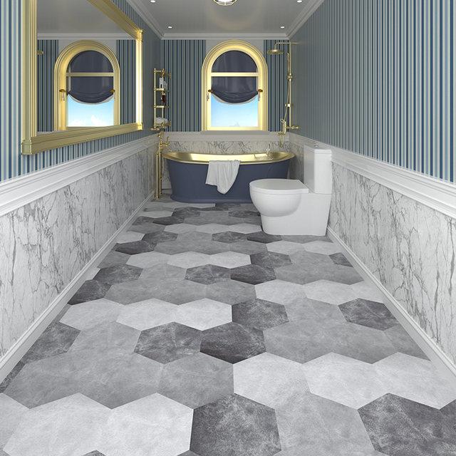 bathroom non slip hexagonal floor