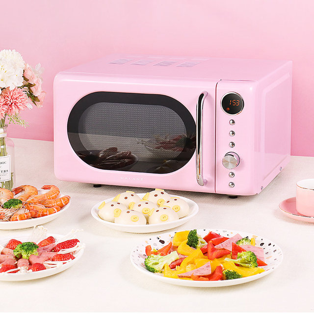retro pink microwave oven 20 liters