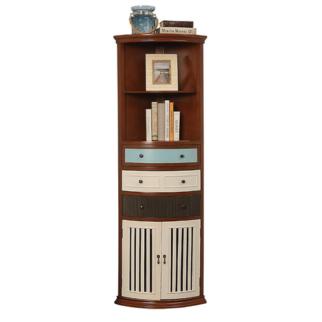 american country corner cabinet living
