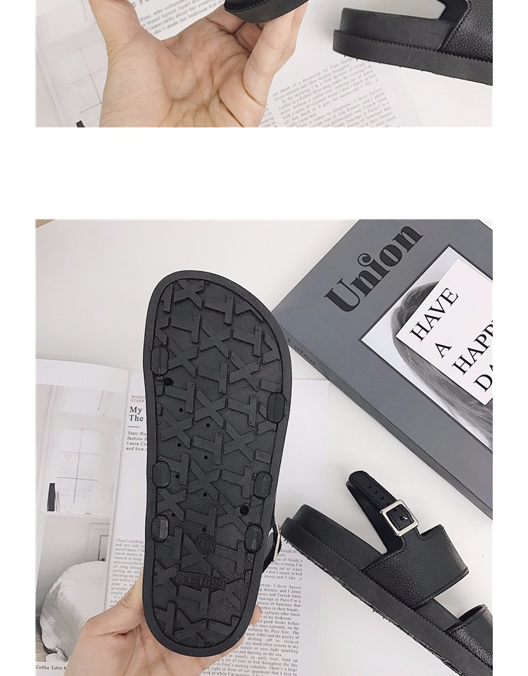 TB2WQ wtGSWBuNjSsrbXXa0mVXa !!1102525876 Mazefeng 2018 New Fshion Summer Women Shoes Rome Style Women Casual Sandals Solid Black Buckle Ladies Sandals Vintage Flats