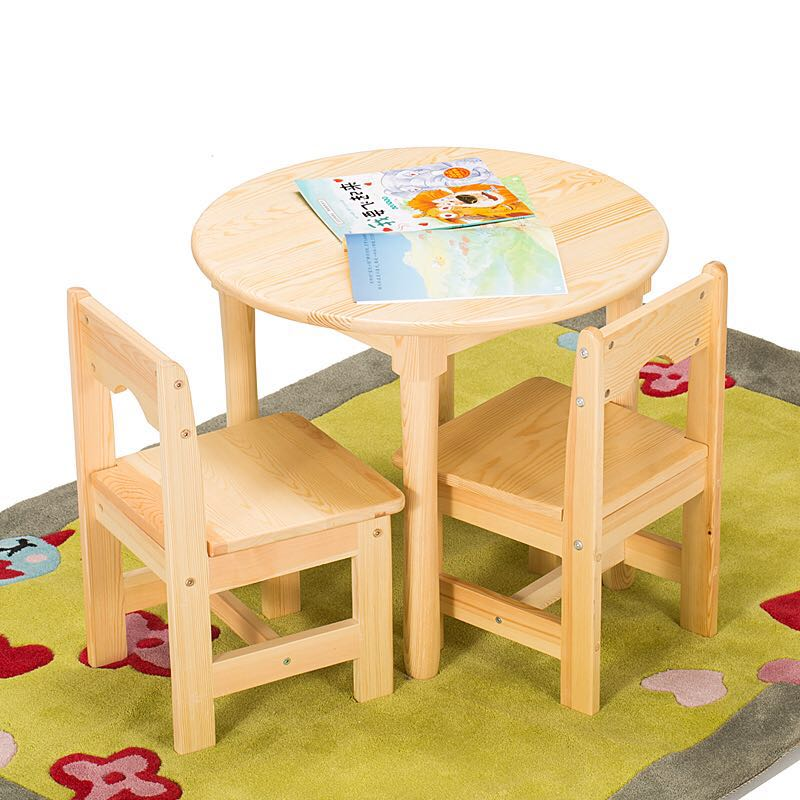 Usd 123 04 Solid Wood Children Small Round Table Baby Table Table Chair Set Kindergarten Table And Chair Wholesale Game Table Children Drawing Table Wholesale From China Online Shopping Buy Asian