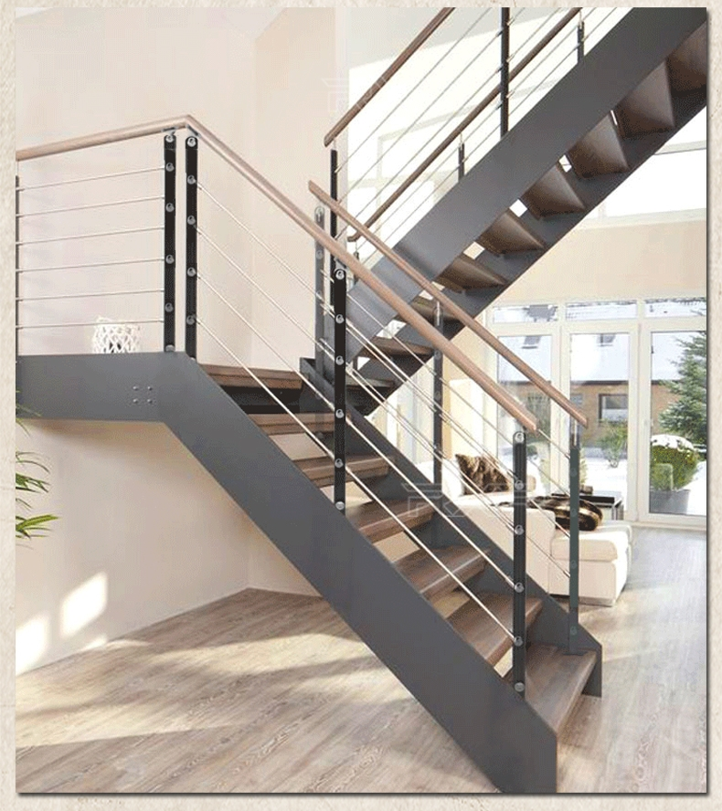 Usd 55 71 Rxr Steel Wood Room Overall Rotating Duplex Staircase | Steel And Wood Staircase | Glass | Custom | Handrail | Contemporary | Inside