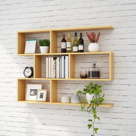 solid wood wall bookshelf shelf