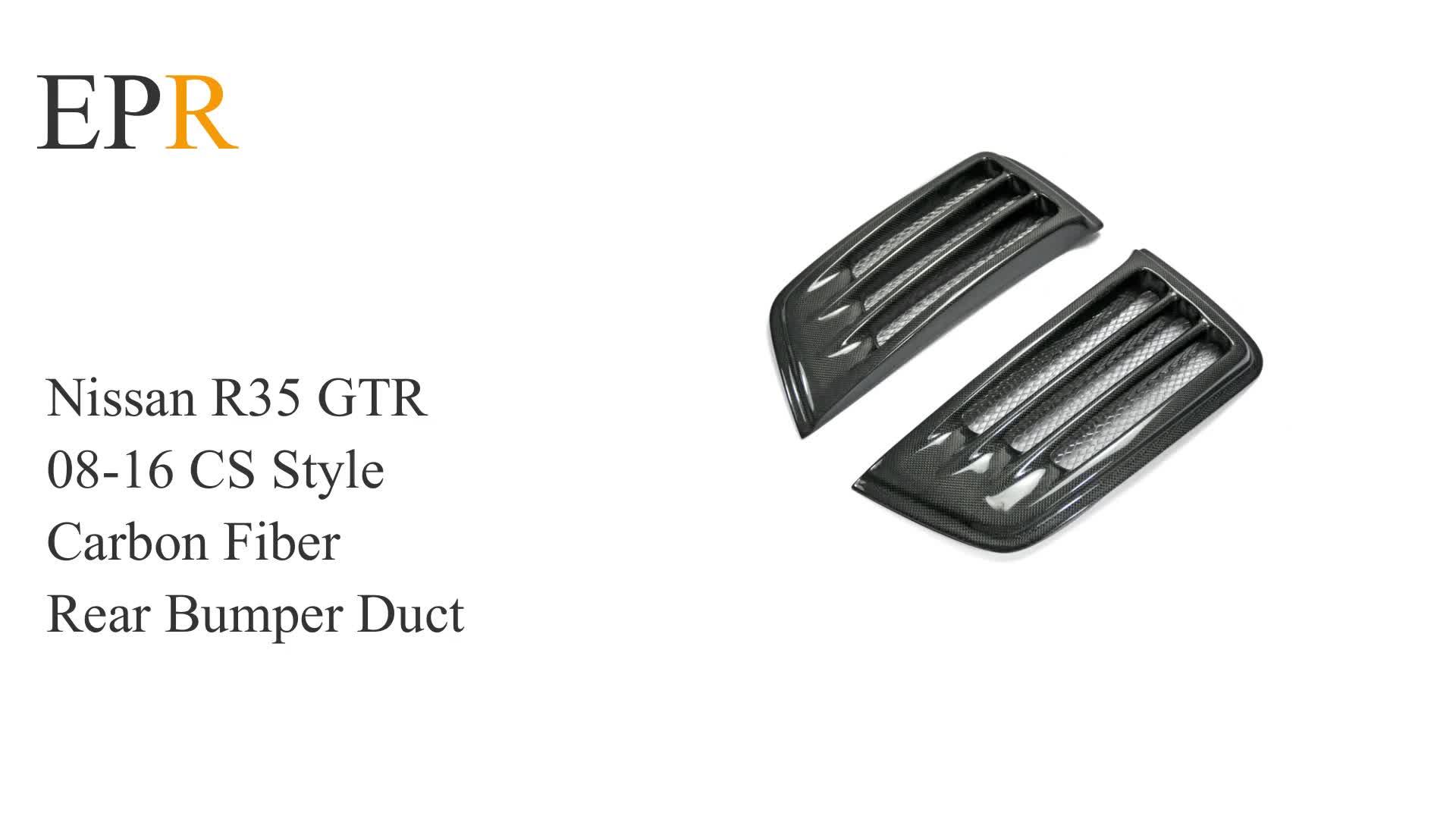 R35 Gtr 08 16 Carbon Fiber Cs Style Rear Bumper Duct