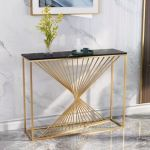 Free Shipping Minimalist Porch Hallway Modern Golden Frame Marble Console Table Buy Marble Console Table Console Table In The Hallway Console Table Golden Product On Alibaba Com