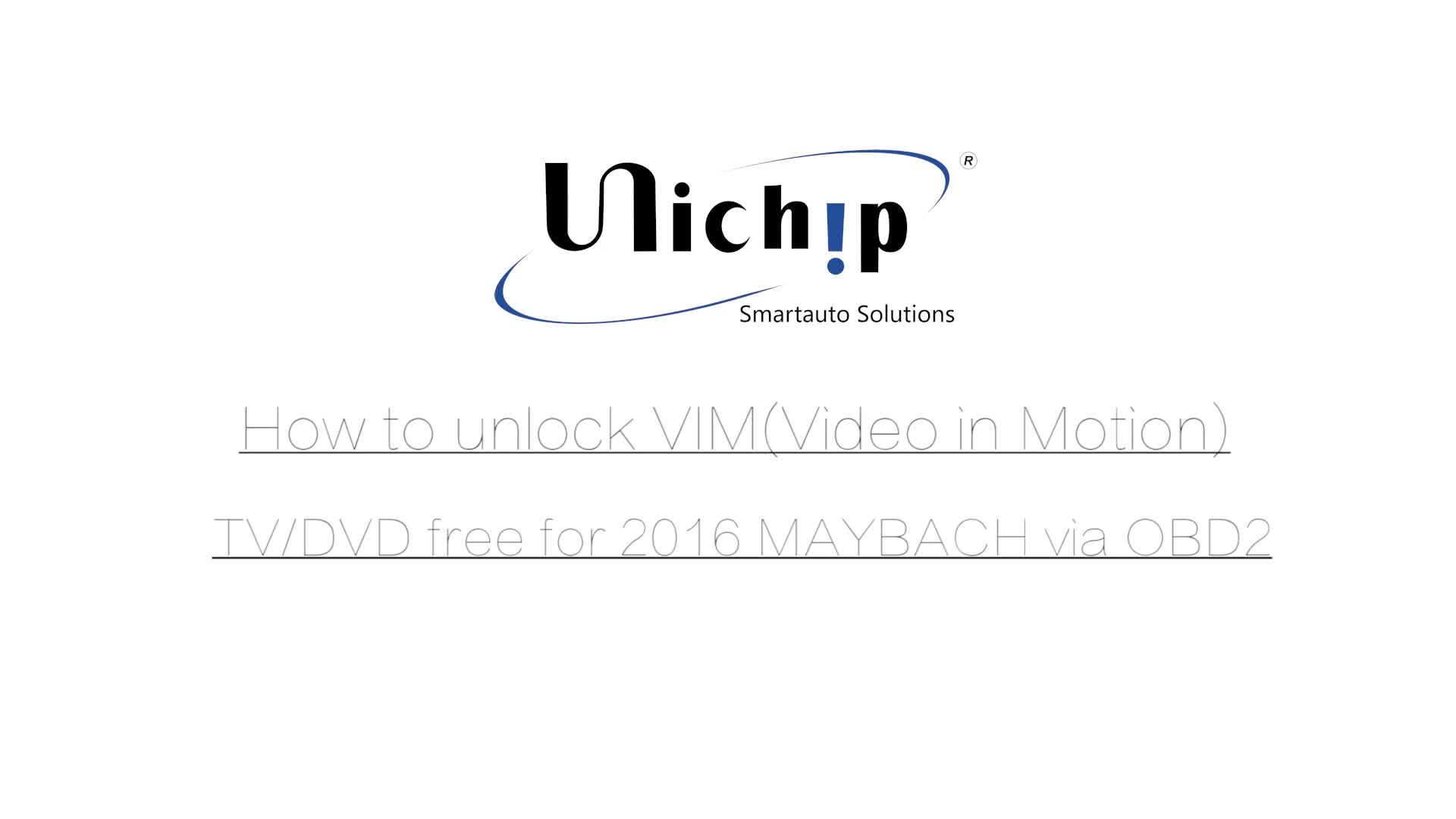 Smart Unichip Obd For M Ercedes C205 C300 S550 Video In