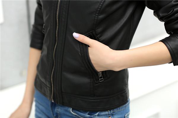 T2eZEGXphXXXXXXXXX %21%21742603855 2018 Fashion New Women's Jacket European Fashion Leather Jacket Pimkie Cleaning Single PU Leather Motorcycle Temale Women's Leat