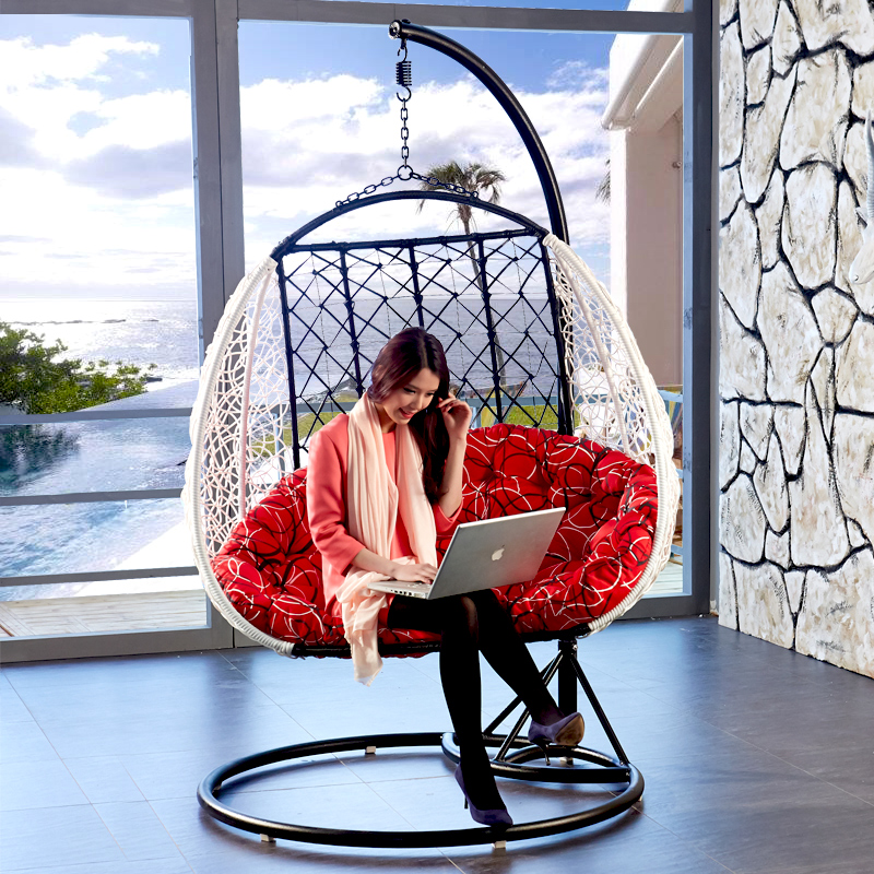 feito line double hanging chair bird s