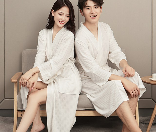 Spring And Autumn Summer Couple Models A Pair Of Bathrobes Women
