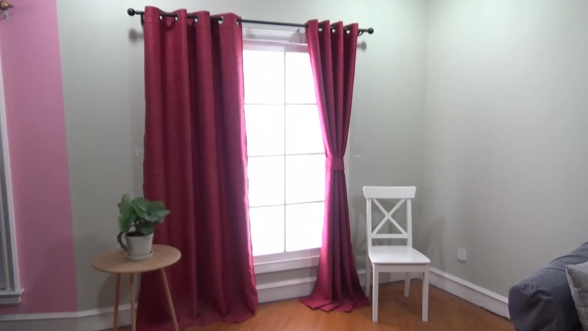 Cheap Valance Dining Room Blue Korean Style Curtain