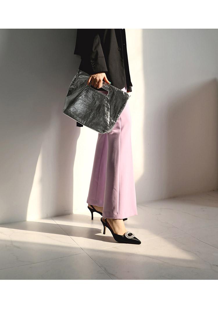 TB2.CCbosyYBuNkSnfoXXcWgVXa !!862068005 Summer new stiletto pointed high heel rhinestone buckle sandals Satin Korean version of the wild Baotou female cool shoes