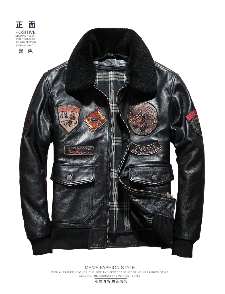 TB2lC66fOwIL1JjSZFsXXcXFFXa !!1721133896 AVIREXFLY 2019 Men Top Gun Air Force A2 Pilot Jacket Inner liner removable Thick Cowhide Military Coat Russia Winter Coats