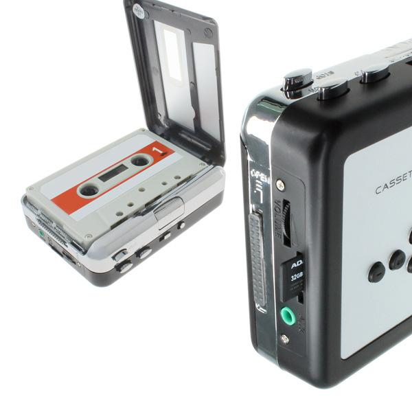 高保真USB錄音帶轉MP3卡帶機隨身聽立體聲TAPE錄音帶訊號轉換直插TF卡