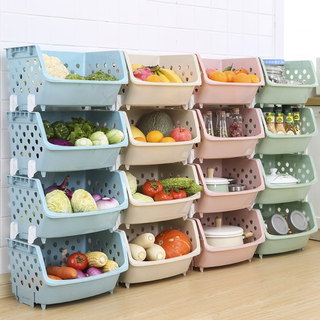 fruit and vegetable storage basket kitchen vegetable storage rack