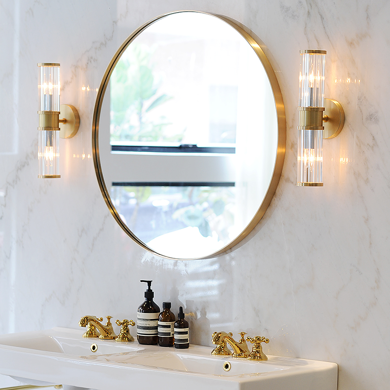 is the nordic bathroom mirror brass