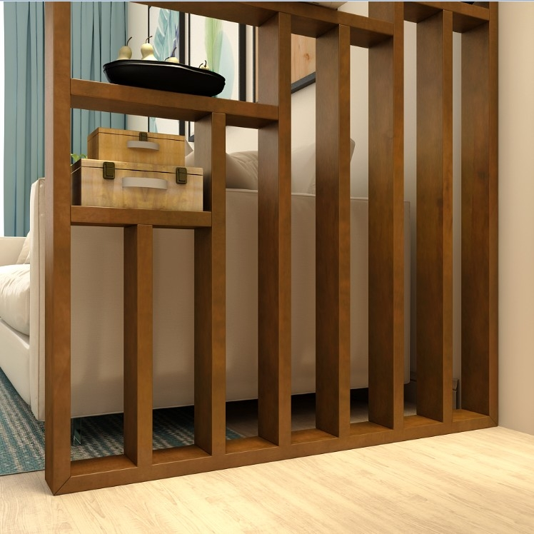 Usd 81 61 Into The Door Partition Frame Solid Wood Nordic Secret   Partition Of Stairs In Living Room   Lobby   Storage   Open Plan   Divider   Wood Paneling
