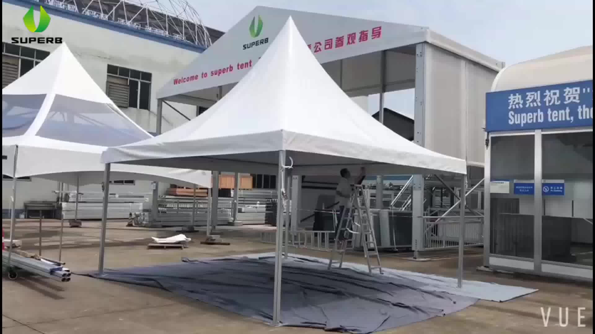 Make In China Aluminum Pvc Fabric 4x4 Commerical Pagoda Canopy Tent