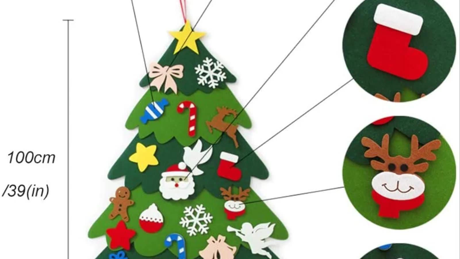 Felt Christmas Tree Toddler Diy Layered Felt Wall