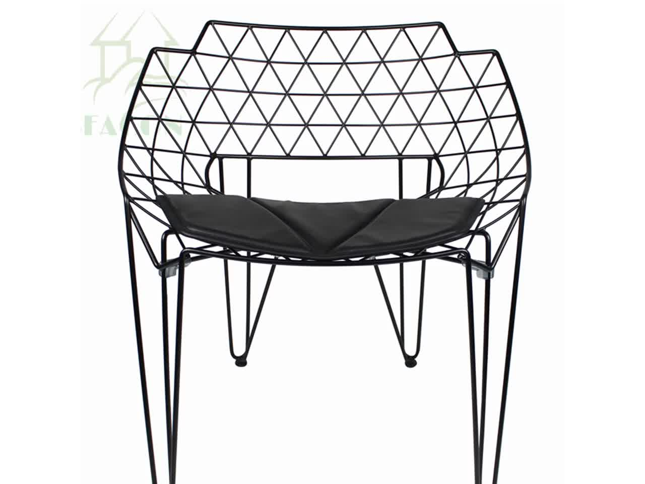 Contemporary French Style Iron Dining Chairs