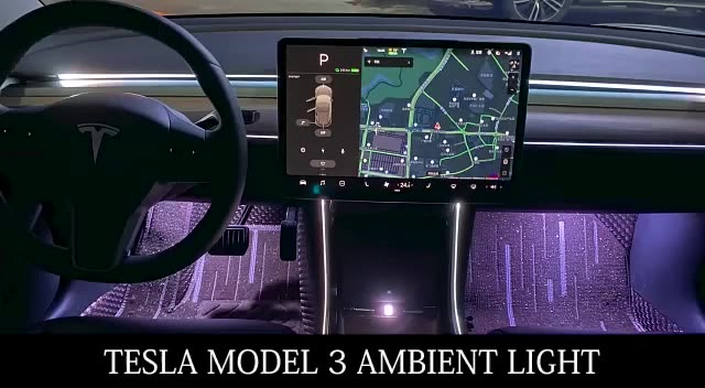 auto tuning parts car interior accessories ambient lighting for tesla model 3 kit car electric buy car ambient lighting for model 3 ambient light