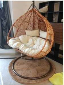 USD 259 75  Outdoor adult swing balcony Double bird nest chair     Outdoor adult swing balcony Double bird nest chair genuine vine swing rattan  basket