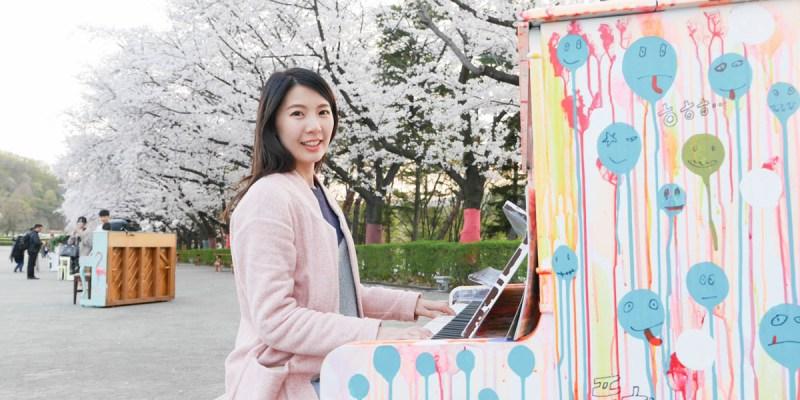 京畿道 首爾樂園Seoul Land。櫻花林下彈鋼琴,偶像劇般的夢幻場景