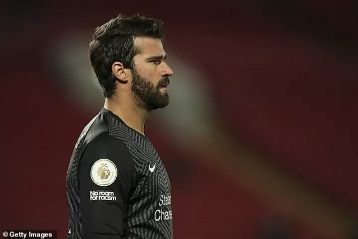 Alisson Becker is 'OUT for Liverpool's clash with Aston Villa' 2