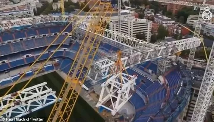 Real Madrid reveal latest footage from their renovation of the Santiago Bernabeu 2