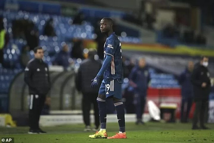 Pepe issues apology to Arsenal team-mates and fans (See what he wrote) 2