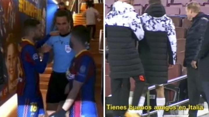 """You're so bad, you b***ard!"" - Jordi Alba calls referee 2"