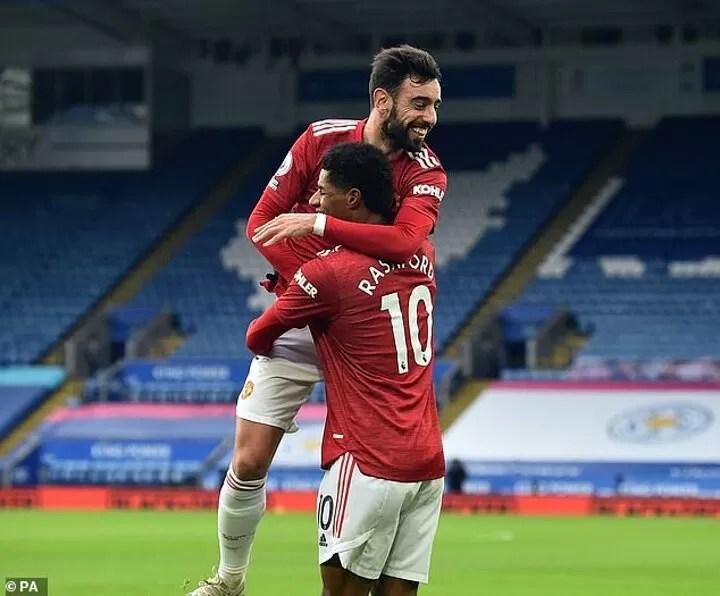 Roma's coach heaps praise on amazing Man United duo Rashford and Bruno Fernandes 2