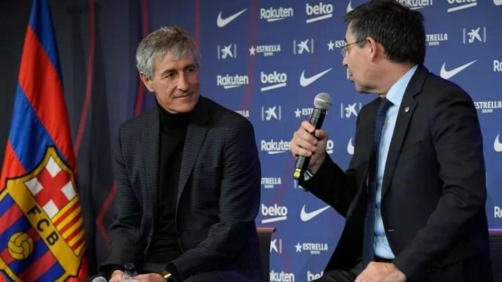 Bartomeu confirms Setien will 'obviously continue' as Barca coach next season 2