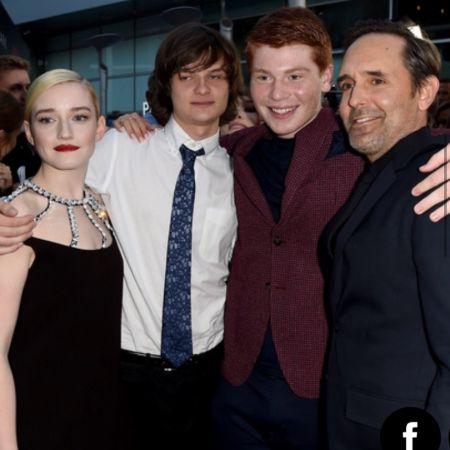Charlie with his friends @ozark season 2 premiere, source Instagram