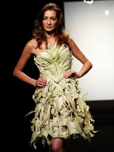 7 Unconventional Project Runway Outfits You Have to See to Believe    Austin Scarlett s Cornhusk Dress