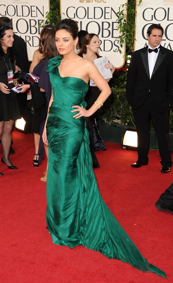 Image result for celebrities in emerald dress