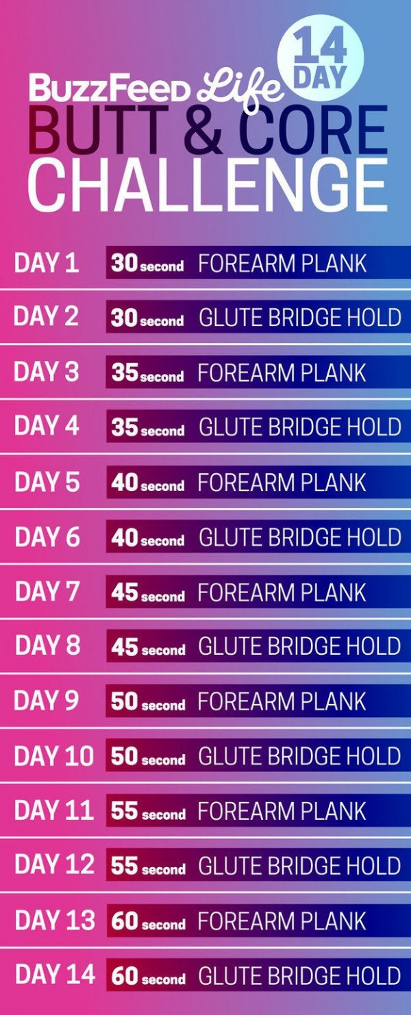 14-Day Butt and Core Challenge
