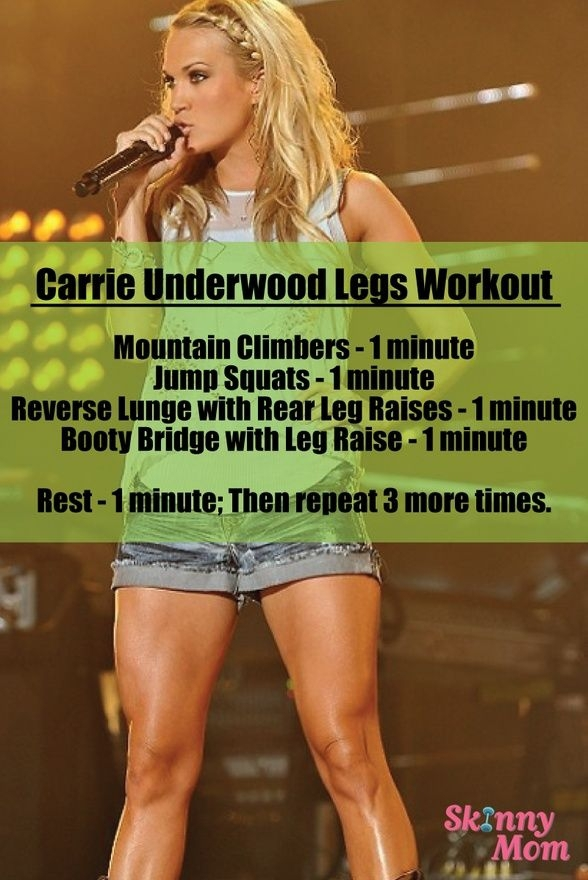 CArrie Underwood's Legs Workout