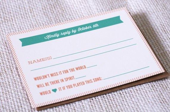 Dj Song Request On Rsvp Cards