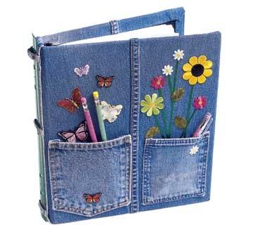 copertina libri di jeans