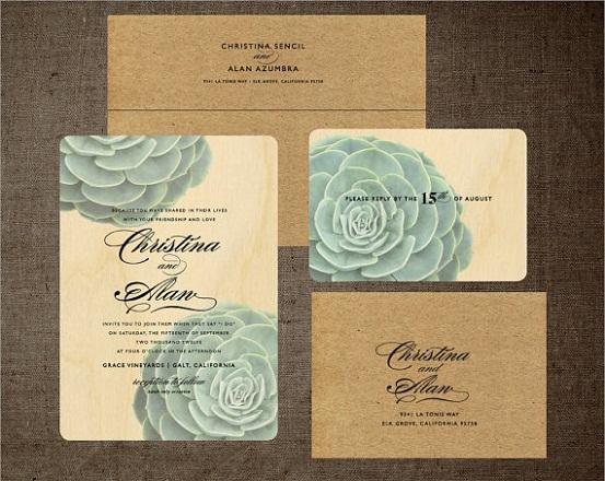 Custom Rustic Wedding Invitations