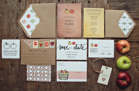 Coffee Themed Invitations Wedding Suite