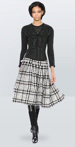 Plaid Skirt - 15 Fab Looks from Oscar De La Renta Pre-Fall ...