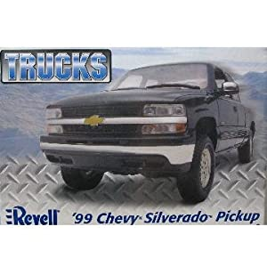 Revell Trucks '99 Chevy Silverado Custom Pickup Model Building Kit (Blue)