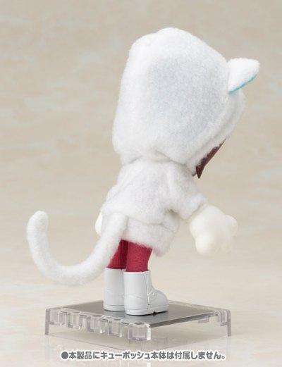 キューポッシュえくすとら あにまるパーカーセット(白猫)