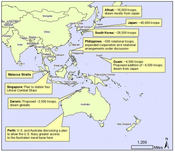 Η περικύκλωση της Κίνας από δυνάμεις προσφιλής στις ΗΠΑ