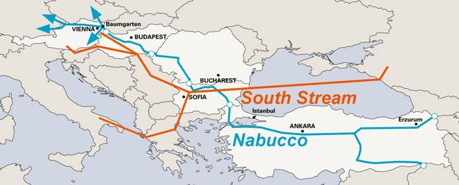Αγωγοί φυσικού αερίου της Ρωσίας, South Stream, Nabucco