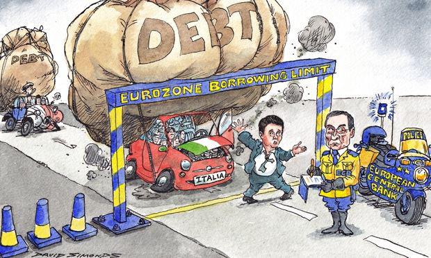 ΕΙΚΟΝΑ-Ιταλία-χρέος-ΕΚΤ